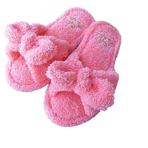 [TY企画] ルーム シューズ スリッパ レディース ルームスリッパ 室内履き 部屋履き ふわふわ かわいい おしゃれ オシャレ カワイイ かわいい タオルスリッパ 人気 (ピンク)
