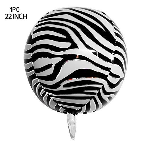 Hen Party Ballon  22inch 4D Heliumfolie Luftballons Zebra Tiger Schlange Giraffe Löwe Tier Ballons Baby Dusche Dschungel Geburtstagsfeier Dekorationen Kinder-Zebra-