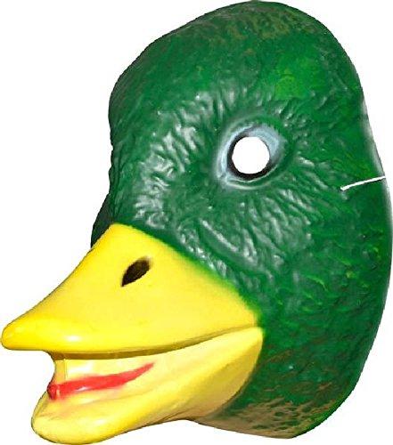 Mondial-fete - 4 Masques canard PVC imprimé 3D - 20 x 16 cm