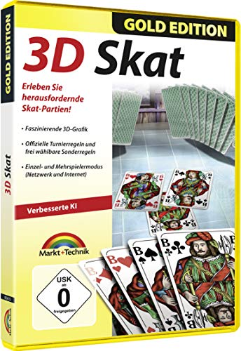 3D Skat Gold Edition - Premium Kartenspiel für Windows 10 / 8.1 / 7 / Vista