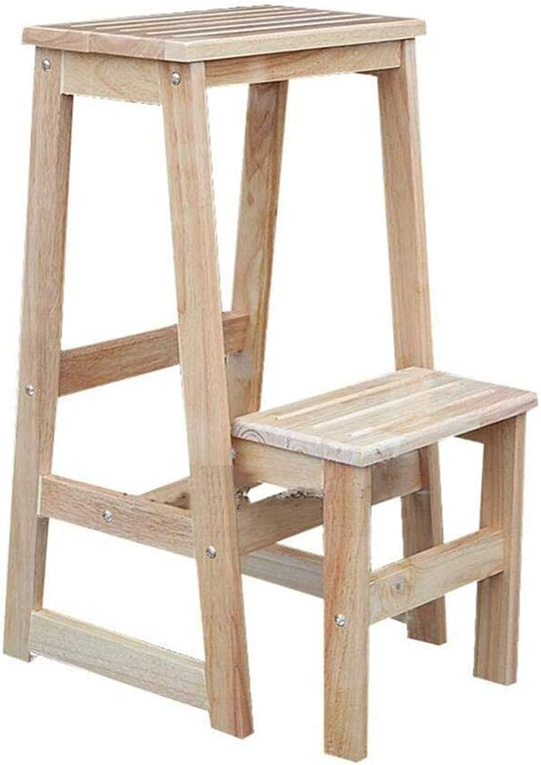 Step Stool Folding Ladder Stairs Stairs Double 2-Step Stool Barstool Cargo Ladder Save Space Step Stool (color   Holzfarbe)