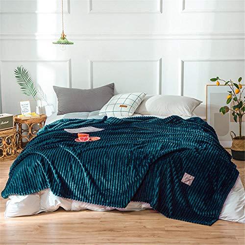 CYOYO Weiche Decke Frottee Decke Sofa Büro Reise Tagesdecke Decke-Dunkelgrün_200 X 230 cm