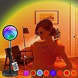 Lámpara de Puesta de Sol, Luz LED con 16 Colores admiten control remoto, Lámpara de Proyección...