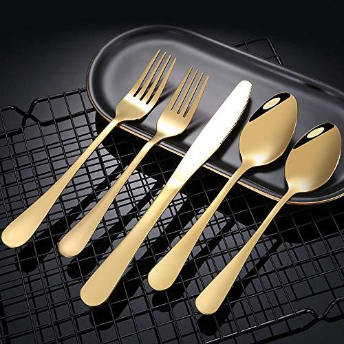 Besteckset 40 Teilig, Besteck Messer Messer Gabel Löffel Überzug Besteck Set für Hotel, BBQ, Geburtstagsereignisse, Restaurant