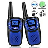 Topsung Walkie Talkies for Adult, Easy to Use Rechargeable Long Range Walky Talky Handheld Two Way Radio with NOAA Weather Scan + Alert, 6 X 1000MAH AA Batteries and USB Charger Included