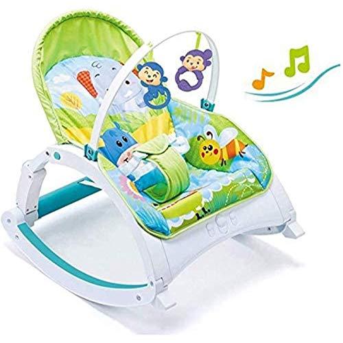 GTBF Silla de balancín de Baby Baby Plegable, reclinable de Cuna para bebés con música Relajante de vibración, Silla de Confort bebé, por 0-18 Meses