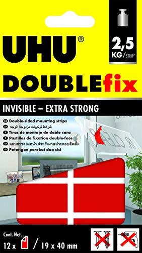Uhu 45515 double bande jusqu'à 5 kg - 2–12 pièces - 26 x 31 mm-transparent