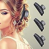Frcolor Pinze fermacapelli in plastica per parrucchiere in Nero 12PCS...