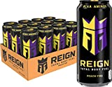 Reign Total Body Fuel, Peach Fizz, Fitness & Performance Drink, 16 Oz (Pack of 12)