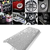 18000pcs Bling Crystal Rhinestone DIY Self Adhesive Car Decoration Stickers Cellphone Decals (White)