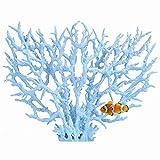 Fdit Acuario Plástico Artificial Planta Decoraciones Coralinas de Tanque de Pescados en Diversos Tama?os y Color(Azul (L))