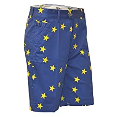 High quality Royal & Awesome men's golf shorts: apparel includes shorts, pitch mark repairer which doubles up as a bottle opener Did we mention exclusive: these fantasticblue and yellow shorts are exclusive and manufactured for us only, so we can t...