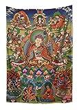 WholesaleSarong Guru Rinpoche Second Buddha Tibetan Thangka Tapestry Cloth Poster Modern Wall Art 43 x 28 inches
