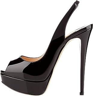Women's High Heels Platform Shoes Peep Toe Slingbacks Pumps for Dress Wedding Party