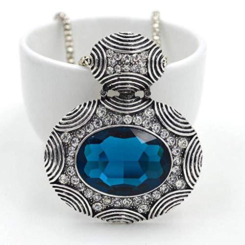 Cadena de Decoración de Ropa de Mujer, Cadena de Suéter Colgante Ajustable Collar Suéter Cadena Colgante Gargantilla Accesorio Joyería, Thumby, Azul eléctrico