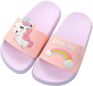 HausFine Zapatos de Ducha, Playa y Piscina Sandalias de Baño Antideslizantes Sandalias de Unicornio para niños y niñas
