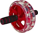 DiBoBo Ab Wheel Roller for Men and Women – Best Cardio Workout Exercise for Home Fitness and Gym (Red)