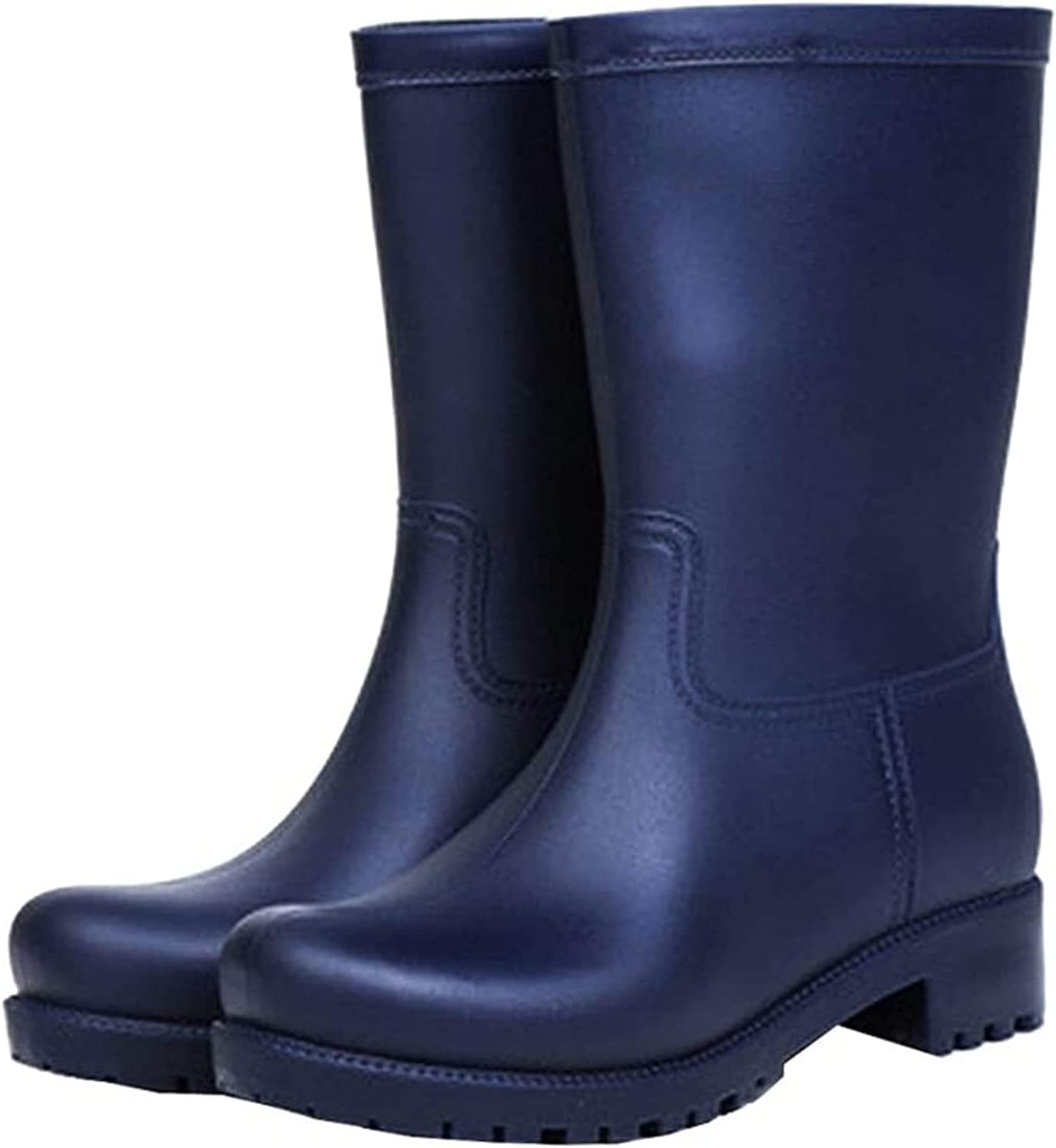 YUESFZ Gorgeous rain Boots Women's Solid Matte In a popularity Rain M Fashion Color
