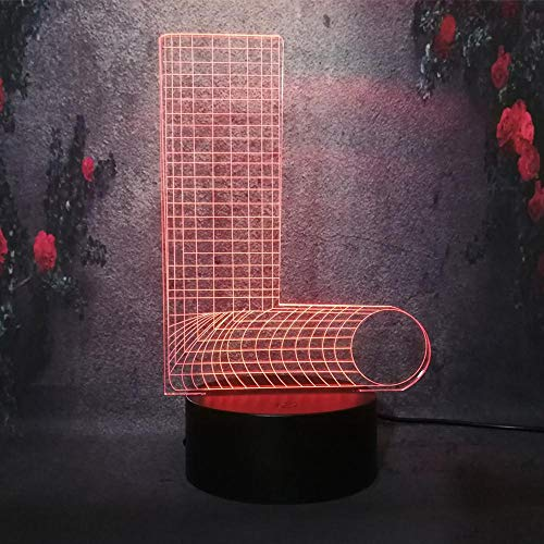 3D Creative Illusion Lights Table Illusion Veilleuse Alphabet Décoration De Chambre D'Enfants Cadeaux De Noël Décoration De La Maison
