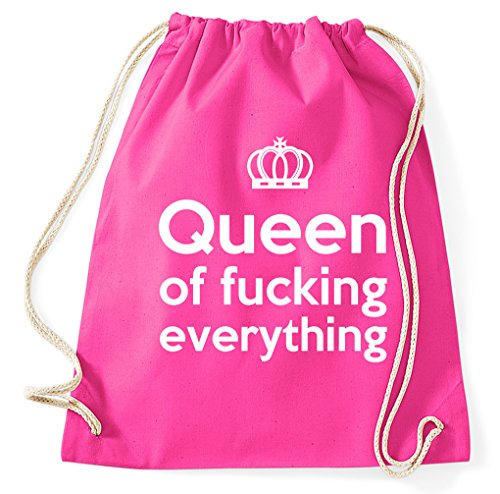 Styletex23 Queen of Fucking Everything Turnbeutel Sportbeutel, pink