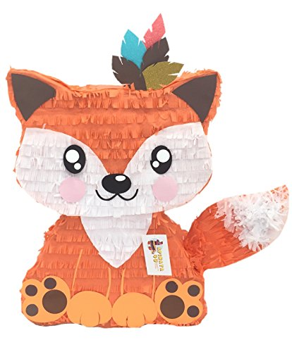 APINATA4U Fox Pinata with Feathers Tribal Part Favor