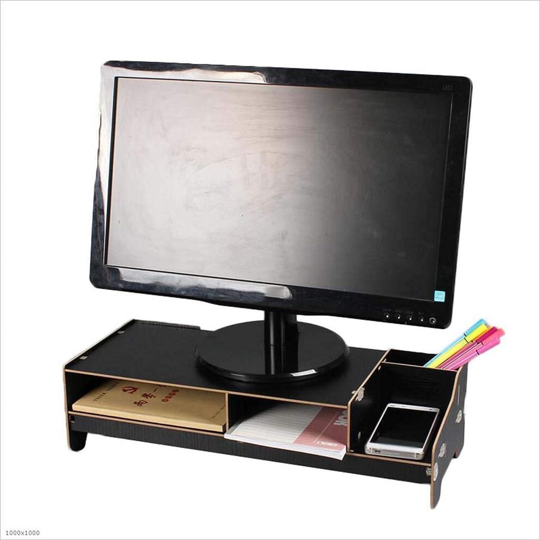 Computer Monitor Increased Rack Bracket Computer Shelf Increased Base Keyboard Storage Bracket Rack,Black
