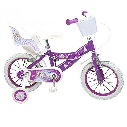 GUIZMAX Vélo Enfant 12 Pouces la Princesse Sofia Licence Officielle Disney