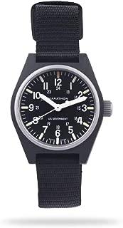 Marathon Watch WW194009 General Purpose Quartz Swiss Made Military Field Army Watch (GPQ) with MaraGlo and Sapphire Crystal, (34mm)