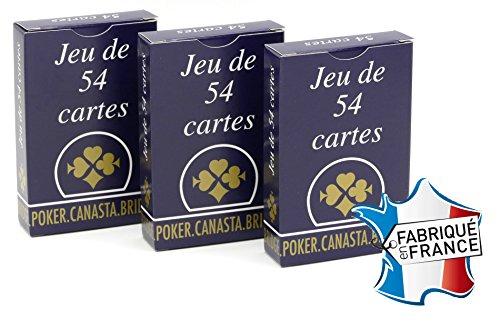 Ducale - Jeu de Cartes - Jeu de 54 Cartes gauloise - Lot de 3