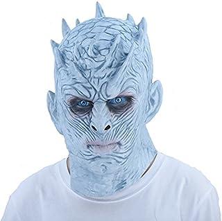 thematys – Máscara de noche del rey Night King de Juego de Tronos Blancos, perfecta para carnaval y Halloween, disfraz para adultos, látex, unisex, talla única