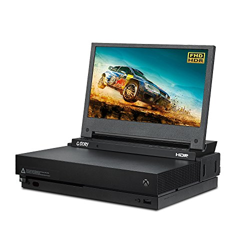 Moniteur de jeu G-STORY 11,6 pouces HDR FHD 1080P Portable Eye-Care pour Xbox One X (non inclus) avec FreeSync, câble HDMI, haut-parleur stéréo multimédia intégré