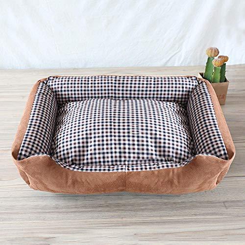 Cama Perro Gato Pequeño Cama Mascota Felpa Sofa Suave Cachorro Animales Domésticos Invierno, Cómoda y Lavable -Rejilla pequeña_Grande 65 * 50