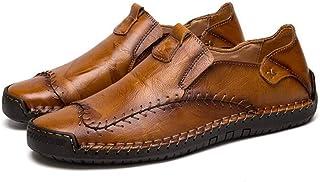 [Cici-shop] キャサリンハムネット 靴 ビジネスシューズ 革靴 紳士靴 メンズ 本革 ローファー スリッポン 手作り 通勤 通気性 3色展開(ブラウン、モカ、ブラック)