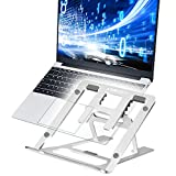 SUMGOTT Supporto per PC Portatile Angolazione Regolabile Pieghevole Supporto da 9-15.6 Pollici per Computer Portatile/Notebook/MacBook PRO/MacBook Air/iPad Laptop Stand