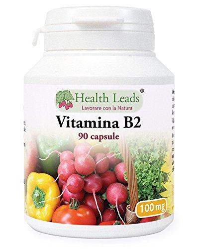 Vitamina B2 100mg x 90 Capsule, Senza magnesio estearato e additivi dannosi, non OGM, Vegan, La riboflavina aiuta nella stanchezza e nella fatica, sostiene i livelli di energia, Prodotto in Galles