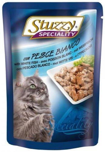 Stuzzy kattenvoering witvis 100 g, verpakking van 24 (24 x 100 g)