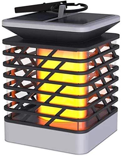 NMDD Luces de Poste al Aire Libre Lámpara de Pilar Lámpara de Columna de césped de Malla de luz Solar Lámpara de jardín Cuadrada LED para Exteriores Luz de jardín súper Brillante a Prueba de Agua