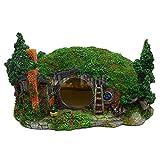 QinWenYan Adornos de Acuario Resina de decoración del Acuario con Accesorios de Acuario de Cueva Oculta Acuario Acuario Accesorios de Tanques de Pescado para Pecera (Color : Verde, Size : One Size)