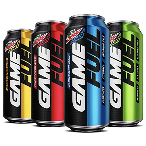 Mountain Dew Game Fuel, 4 Flavor Variety Pack, 16 fl oz. cans (12 Pack)