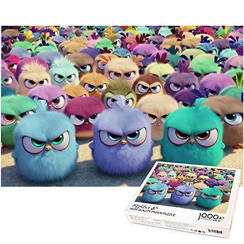 Rompecabezas para niños 1000 Piezas Angry Bird Baby Niños Adultos Rompecabezas de descompresión Decoración del hogar Regalo Creativo 70x50cm-Angry Birds