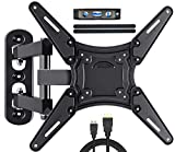 Fozimoa Full Motion TV Wall Mount for Most 26-55 Inch TVs with Swivels, Tilts & Extends, TV Bracket VESA 400x400 Fits LED, LCD, OLED, 4K TVs Up to 66 lbs, Fits Single Stud