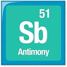 DIYthinker Sb Antimonio elemento químico Chem brillante baldosa cerámica de baño Cocina muro de piedra artesanal de regalo Decoración