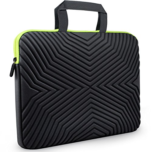 Tizum Laptop Bag Sleeve Case Cover for 15/15.6-Inch Laptop MacBook Designer Neoprene (Black)