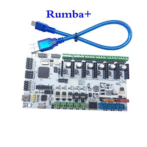 Rumba+ Motherboard Upgrade Rumba Control Board for 3D Printer Triple Extruder Multi Color 3 in 1 Out Diamond Hotend