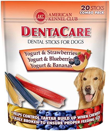 American Kennel Club Dentacare Dog Sticks, Yogurt And Fruit Combo Pack