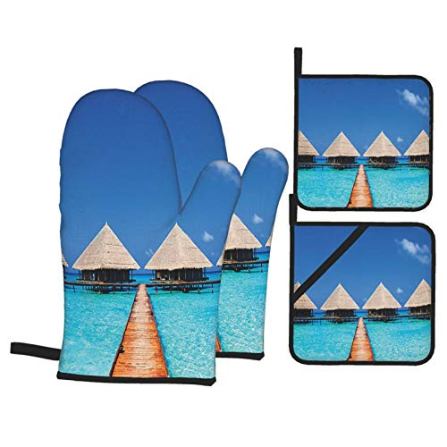 F-shop House Decor Maldives Dock with Clear Waters Tropical Nature Polynesian Home...