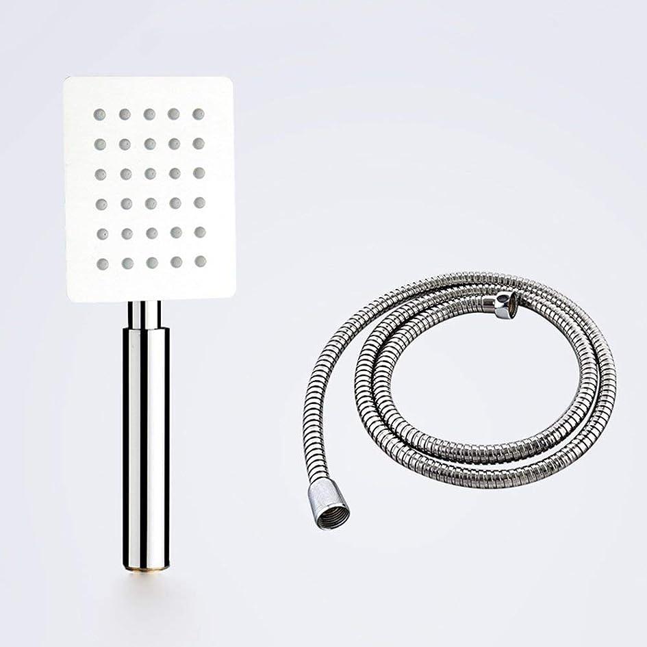 別の懲らしめメダル実用的なハンドシャワー 201ステンレス鋼浴室手のシャワーシャワーを浴びるシャワーヘッド湯沸かし器風呂を浴びるシャワーヘッドセットフラワーヘッドラウンドシャワースクエアシャワー (Color : 3)