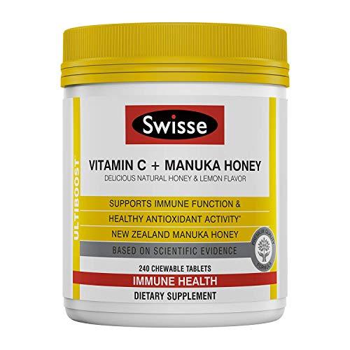 Swisse - Ultiboost Vitamina C + Manuka Honey Immune Health Support - 240 Compresse masticabili