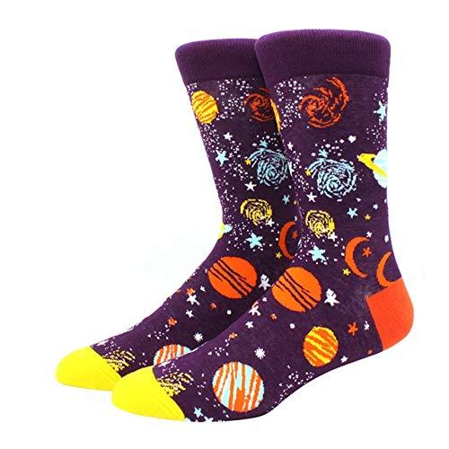 2 Pares de Calcetines nuevos para Hombre, Sandalias de Hip Hop para Hombre, Calcetines Divertidos de Invierno Gruesos y Largos, Coloridos-a3