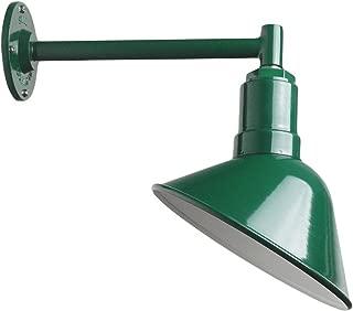 The Steel Lighting Del Rey Sign Light   Short Stem Barn Lighting Shade   9 Inch Reflector and 11 Inch Straight Stem (Green)